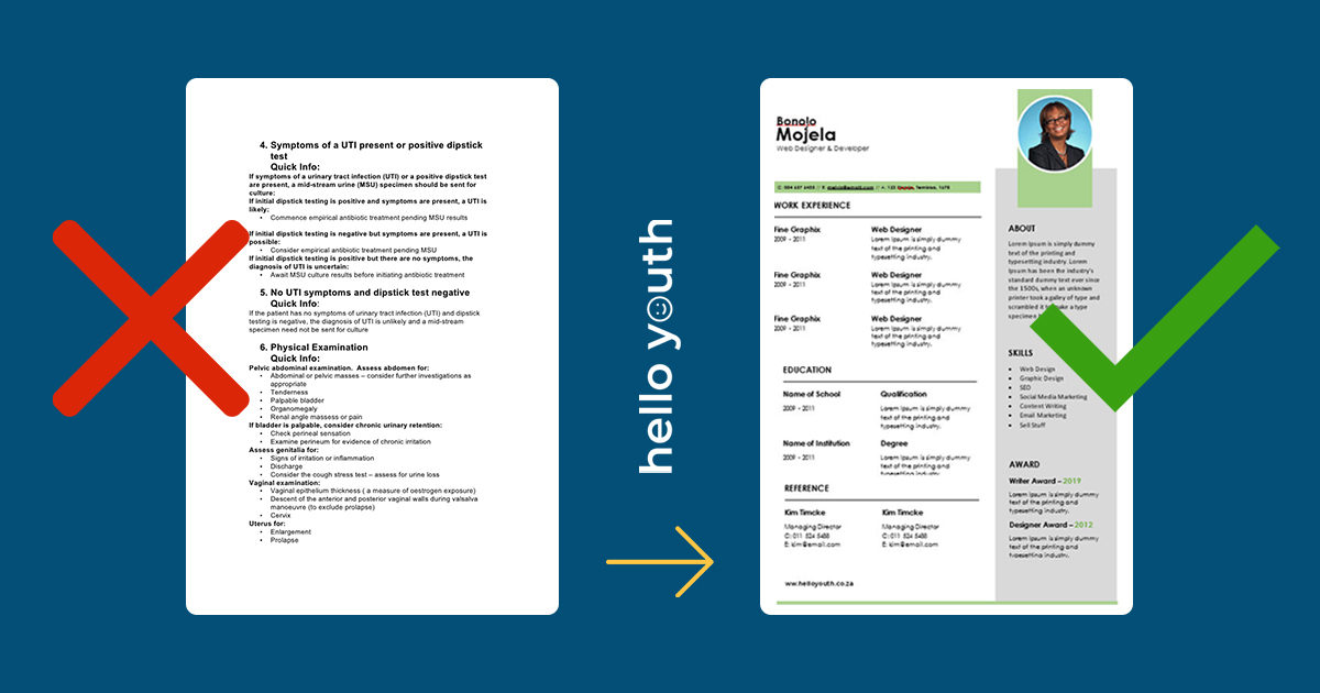 10 Free Cv Templates For Word The Ultimate Collection Hello Youth
