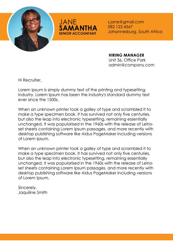Cover Letter Template 004