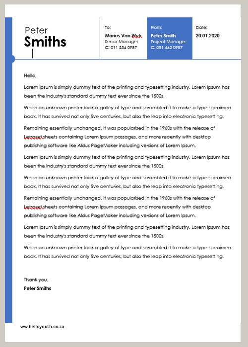 Cover Letter Template 002