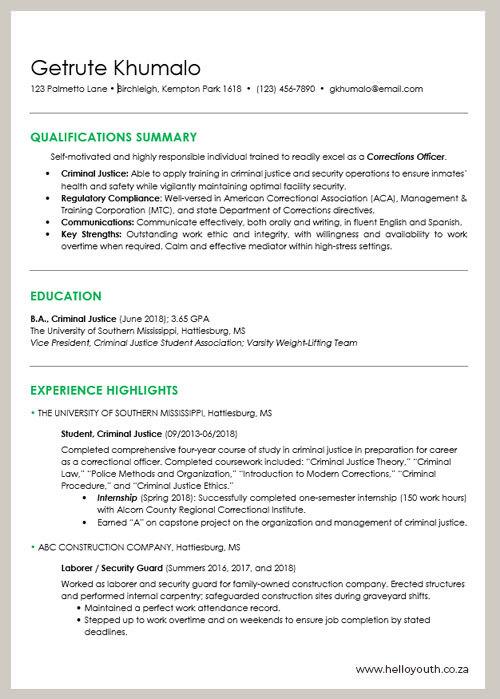 CV Sample 001