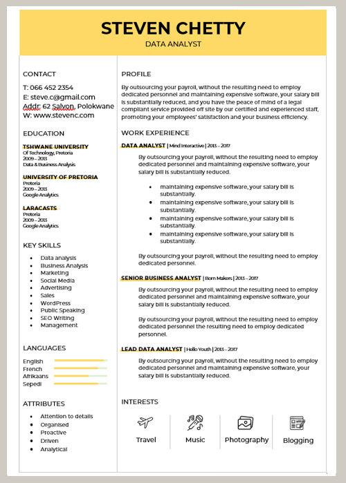 CV Sample 007