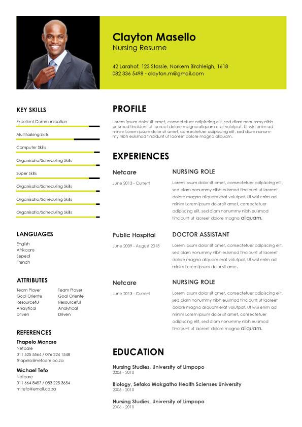 CV Template 009